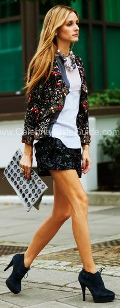Olivia Palermo Style and Fashion - TopShop Ultimate Jewelled Jacket - Celebrity Style Guide