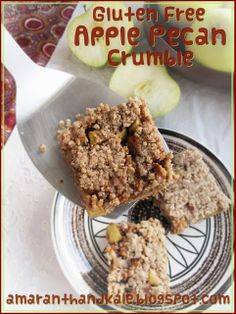 Amaranth & Kale: Apple Pecan Crumble (Gluten Free) ...These are also egg and dairy free too!