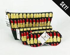 NEW! Makeup Toiletry Bag set! http://ift.tt/1LMhqo9 #lipstick #makeupbag #treatyoself #makeuptutorial #spa #gold #cute #woman #gift #red #hair #handmade #handcrafted #storage #vegan #organization #rollerderby #love #womeninbusiness #bags #fireboltcreations #etsy #fashion #new #shopping #mascara #blush #cosmetology #teen #cosmetic