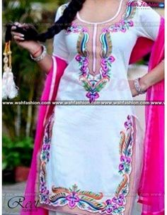 Give yourself a stylish & punjabi look with this White And Magenta Embroidered Punjabi Suit From Reet Glamour. Embellished with Embroidery work and lace work. Available with matching bottom & dupatta. It will make you noticable in special gathering. You can design this suit in any color combination or in any fabric. Just whatsapp us for more details. For more details whatsapp us: +919915178418