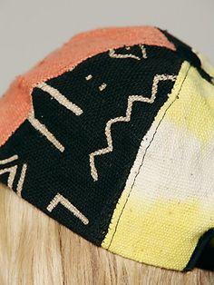 Free People Mud Cloth Baseball Hat