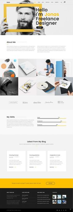 Node – Modern & Clean Multi Concept in Web design Portfolio Website Design, Portfolio Web Design, Maquette Site Web, Web Design Tutorial, Design Templates, Logos Retro, Design Social, Web Design Quotes, Design Digital