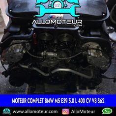 Moteur complet BMW M5 E39 5.0 l 400 cv V8 S62 🔵87.000 Kms certifiés 🔵Référence moteur S62 🔵Année 2004 ( 2000-2004 ) 🔵Livré complet sans boîte de vitesses 🔵Garantie 6 mois