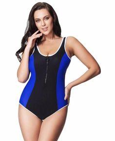 New Arrival One Piece Swimsuit Women Vintage Bathing Suits Plus Size Swimwear Beach Padded Front Zipper Sexy Swim Wear 7XL