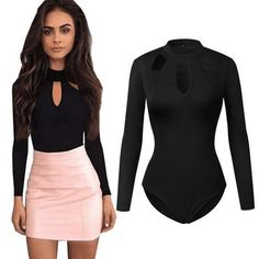 Fine 2019 Women New Sexy Beach Bandage Bodysuit Long Sleeve Slash Nexk Waist Cut Out Bodycon Celebrity Beach Party Bodysuit Sales Of Quality Assurance Women's Clothing