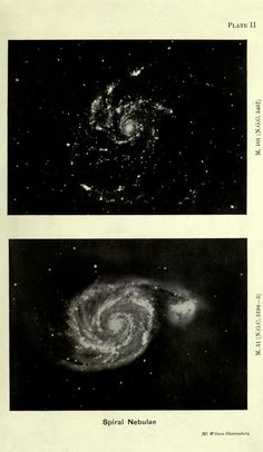 Plate II. Spiral nebulae _Problems of cosmogony... | nemfrog