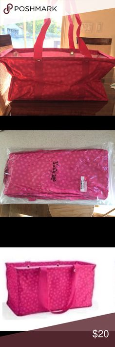Brand new Thirty one large utility tote Brand new pink polka dot utility tote Thirty One Bags Totes