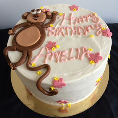 Vanilla cream monkey cake