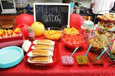"wedding hot dogs | Build Your Own Hotdog Bar"" included hot dogs, onions, relish, chili ..."