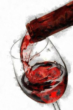 Pouring Red Wine Painting  - Pouring Red Wine Fine Art Print