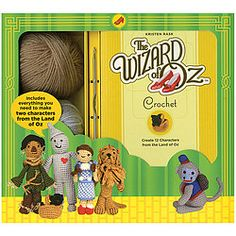 Combine the classic film with a classic craft!  Kit includes book with illustrated step-by-step instructions for creating huggable versions of your favorite Oz characters, yarn, a metal crochet hook, stuffing, thread, and a tapestry needle.