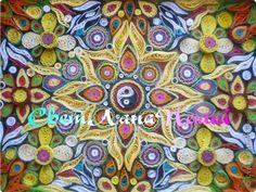 Картина панно рисунок Квиллинг Мандалла Гармония Бумага фото 1