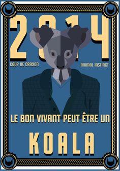 // Le bon vivant peut être un Koala //  #koala #esprit #animal #espritanimal #animalspirit #spirit #animals #animaux #graphisme #vectoriel