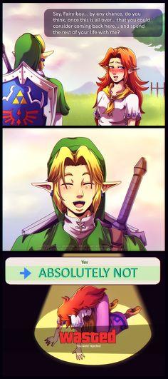 His absolute answer, Link, The Legend of Zelda artwork by Queen Zelda.