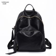 cfaaa08aaaf8 YUPINXUAN PU Leather Backpacks for Women Backpack Black Leather Back pack School  Bags For Teenage Girls Mochila Feminina Cheap-in Backpacks from Luggage ...