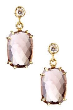 Peach Tourmaline & Diamond Drop Earrings...now these are pretty