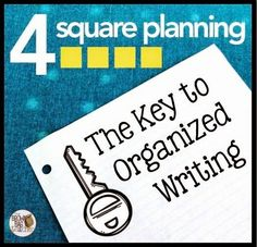 4 Square Planning: The Key to Organized Writing - Awesome guest blog post and freebie from Catherine Reed, the Brown Bag Teacher