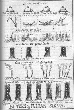 Blazes & Indian Signs by Ernest Thompson Seton - he makes many of these types of sketches.