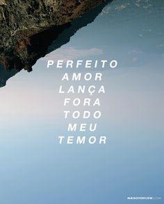 """""""Perfeito amor lança fora todo meu temor não me abalarei pois eu sei que Você está comigo"""" - @andrempaquino feat. @ana_rock () maisoverflow.com  X"""