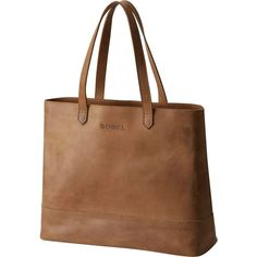 Sorel Leather Tote ($300) ❤ liked on Polyvore featuring bags, handbags, tote bags, leather purses, brown handbags, tote handbags, leather tote handbags and brown leather purse