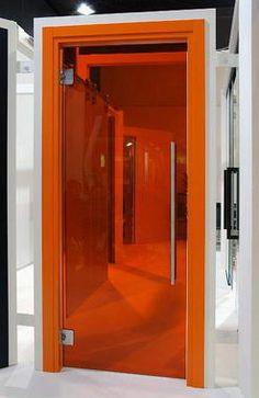 Orange Glass Door for the CEO's office