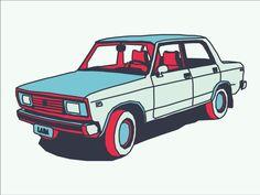 lada car 15 Outstanding Car Illustrations