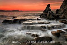 Incredible sunset in Azkorri - Gorrondatxe beach by Iñigo Escalante on 500px