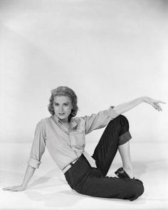 Grace Kelly in a fitted shirt