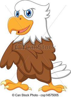 Cute eagle cartoon posing vector image on VectorStock Free Cartoon Images, Eagle Cartoon, Eagle Pictures, Kawaii Chibi, Detailed Drawings, Cartoon Design, Funny Cartoons, Character Illustration, Cartoon Characters