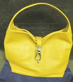 Yellow Dooney & Bourke leather handbag.
