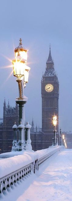 London in the snow, England, UK