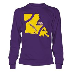 LSU Tigers - Football State Map T-Shirt, Special Offer, not available in shops! Comes in a variety of styles and colors Buy yours now before it is too late! Secured payment via Visa / Mastercard / Amex  The LSU Tigers Collection, OFFICIAL MERCHANDISE  Available Products:          Gildan Long-Sleeve T-Shirt - $33.95 Gildan Unisex Pullover Hoodie - $49.95 Gildan Fleece Crew - $39.95 District Women's Premium T-Shirt - $29.95 District Men's Premium T-Shirt - $27.95 Gildan Unisex T-Shirt - $25.95…