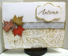 It's a glorious sunny Friday here in central Ohio.  But the wind chill is 22 degrees.  Our leaves are turning colors and falling and that inspired my version of Priscilla's card here: http://www.splitcoaststampers.com/gallery/photo/2260106?&cat=500&ppuser=334464 Priscilla (catluvr2) is our Queen for the day today.  I've long been an admirer of her work and today I took the time to CASE one of her gorgeous creations.   Please visit her gallery and join in the fun.    Congrats to you…