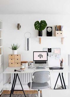 Decoración con plantas de interior Home Office Organization, Home Office Decor, Office Ideas, Organization Ideas, Office Themes, Interior Office, Home Interior, Organizing, Decoration Bedroom