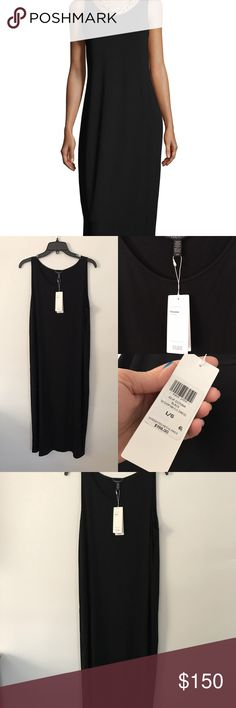 Eileen Fisher Viscose scoop neck dress L NWT This is selling online for orig price still of $198. Smoke and pet free home. Bundle discount 20% Eileen Fisher Dresses Midi