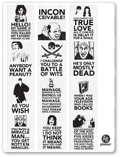 Princess Bride Quote Full Box Planner Stickers
