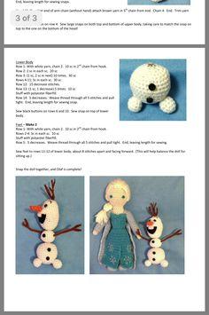Best 12 Olaf by Sol – issuu – SkillOfKing. Crochet Olaf, Frozen Crochet, Crochet Sheep, Crochet Animals, Crochet Toys, Crochet Baby, Crochet Dolls Free Patterns, Christmas Crochet Patterns, Crochet Doll Pattern