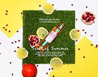 Scent of Summer | Bath&Body Works Advertorial  https://www.behance.net/gallery/30593485/Scent-of-Summer-Bath-Body-Works-Advertorial