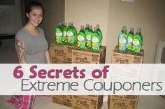 6 Secrets of Extreme Couponers via MrsJanuary.com #extremecouponing