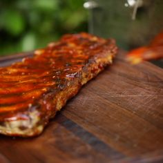 Sticky BBQ Ribs to make your Game Day or Summer BBQ a bit hit! Sticky, and sweet with homemade BBQ sauce makes these ribs a sure fire hit at any party! A delicious slow roasted rib recipe with homemade BBQ sauce that's perfect for summer grilling! Grill Pork Ribs Recipe, Pork Rib Recipes, Grilling Recipes, Cooking Recipes, Marinade For Pork Ribs, Venison Recipes, Sausage Recipes, Meat Recipes, Cooking Tips