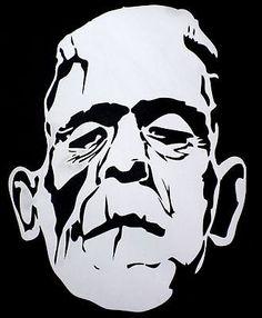 high detail airbrush stencil frankenstein FREE UK POSTAGE
