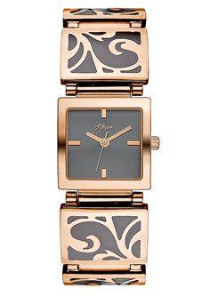 Edelstahluhr im ornamentalen Design  von: s.Oliver #Schmuck #Armbanduhr
