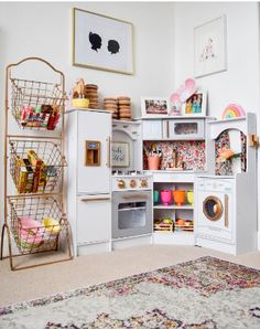Gorgeous playroom kitchen by Marissa of Hello Baby Brown and Sloan and Co.