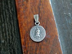 Our Lady of Guadalupe 1804 Sterling Medal Pendant Non Fecit Taliter Omni Nationi Mexico by KentonCollectibles on Etsy