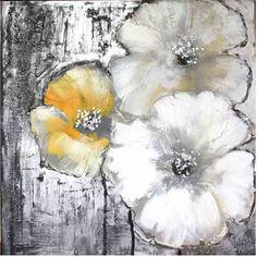 Moe's Home Collection Cream and Yellow Poppies II Canvas Wall Art ($130) ❤ liked on Polyvore featuring home, home decor, wall art, backgrounds, art, grey, painting, quadros, yellow wall art and grey home decor
