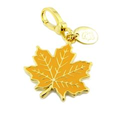 Juicy Couture Charm Golden Maple Leaf