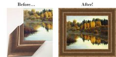 The Foundry collection works great with this #landscape! : http://www.larsonjuhl.com/interactive-frame-design.aspx: