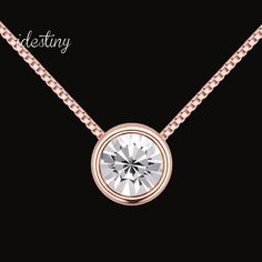 Find More Pendant Necklaces Information about New simple round design for girls rose gold plated austrian crystal necklace made with SWA elements crystal,High Quality crystal necklace,China designer necklace Suppliers, Cheap necklace designer from Idestiny Jewelry Store on Aliexpress.com