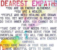 Dearest empath: you are an energy alchemist. You are a healer Empath Traits, Intuitive Empath, Psychic Empath, Empath Quiz, Empath Abilities, Psychic Abilities, Tarot, Reiki, Namaste