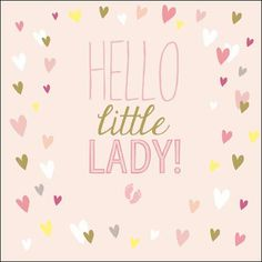 """Little Princess, new baby girl greeting card. The greeting inside reads """"Welcome to the World"""""""